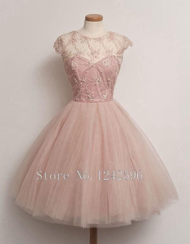 Online Get Cheap Light Pink Cocktail Dresses Sleeves -Aliexpress ...