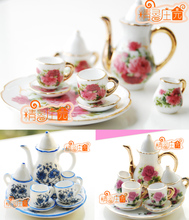 1/6 Scale Dollhouse Miniature Porcelain Coffee Tea Set For Barbie Blythe 8PCS()