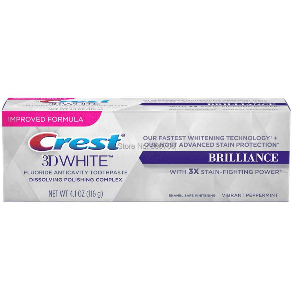 NEW! Crest 3D White Brilliance Toothpaste 4.1 oz Vibrant Peppermint