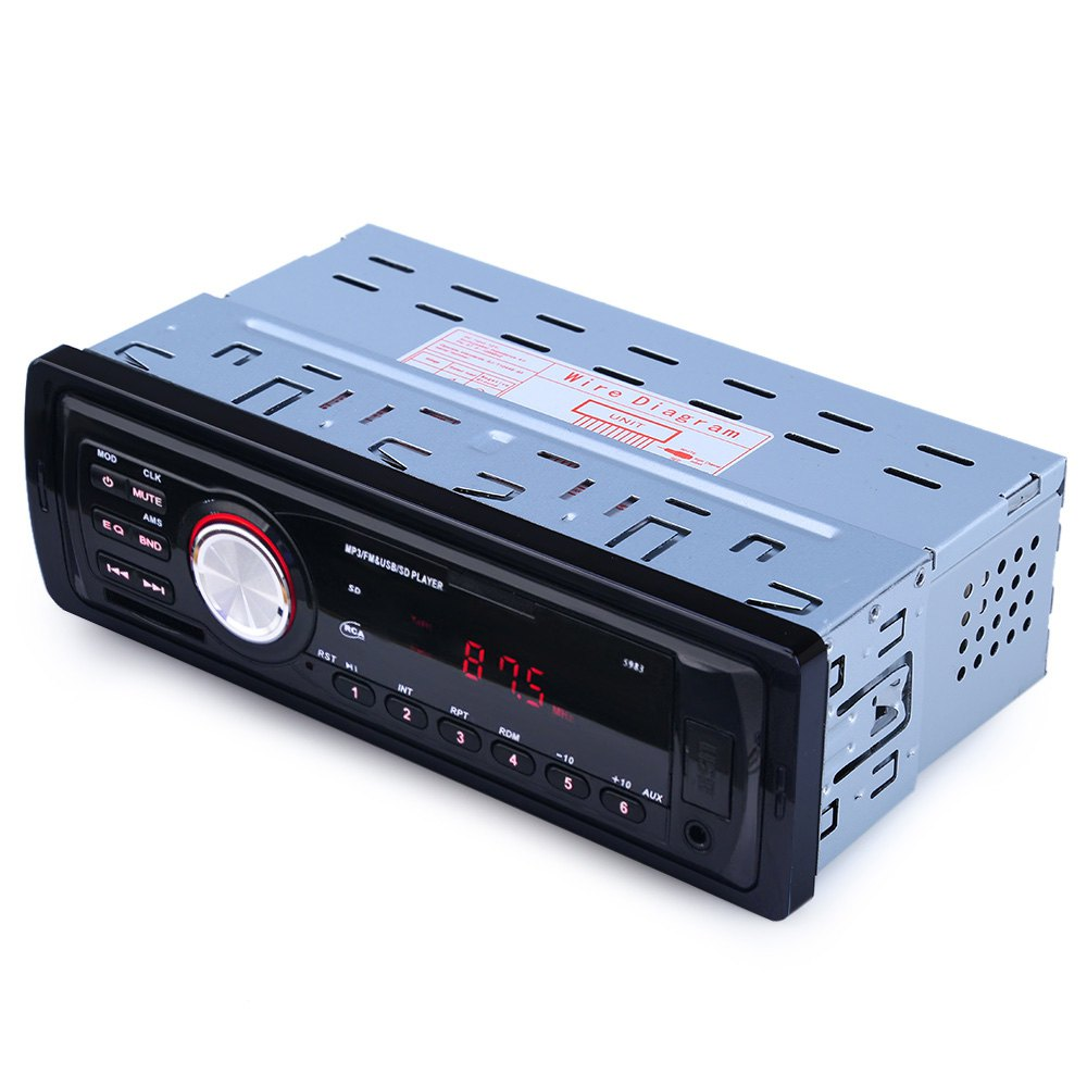 Car Radio Stereo Player AUX-IN MP3 FM/USB/1 Din/ For Iphone 12V Car Audio Auto 2016 Sale New(China (Mainland))