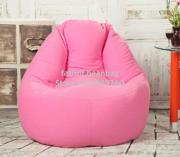 Cover Only No Filler Pink Sofa Bean Bag Seat Outdoor Beanbag Furniture Chair
