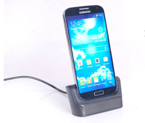 free shipping Destop Micro USB Dock Station Charger Data Sync Cradle Docking Stand for Samsung Galaxy S4 mini i9190(China (Mainland))