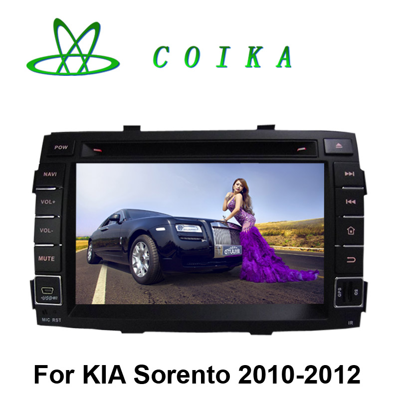 Quad Core Android 5.1 Double Din Car DVD Kia Sortento 2010 2011 Tape Recorder GPS Radio Receiver BT WIFI 3G 1024*600 HD Screen(China (Mainland))