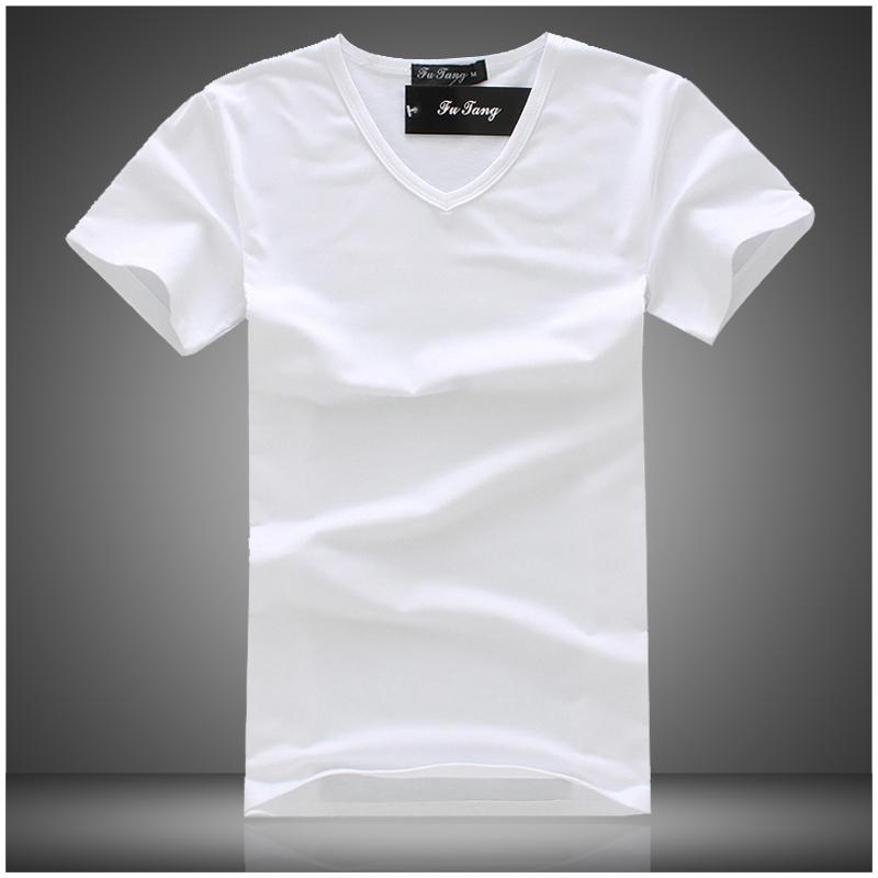 2015 popular brand men T-shirts slim fit short sleeve tee shirts homme de marque summer style V neck camiseta masculina XXL size  -  DT boutique store
