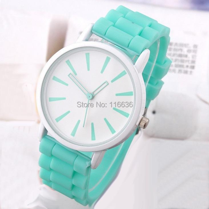 Здесь можно купить  50 pcs Lot  women geneva watches Silicone analog quartz wristwatches casual dress new fashion wholesale  Часы