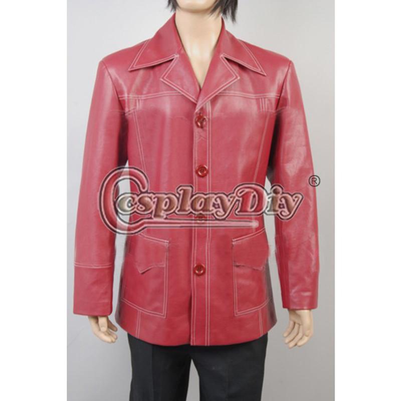 На заказ тайлер дерден брэд питт фильмы красный кожаный пиджак пальто костю
