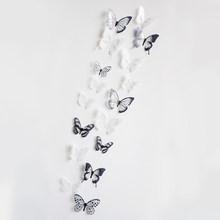 18 قطعة/الوحدة 3d الكريستال فراشة الجدار ملصق جميلة الفراشات ملصقات فنية المنزل ملصقات ديكور لتزيين الغرف الزفاف الديكور على الحائط(China)