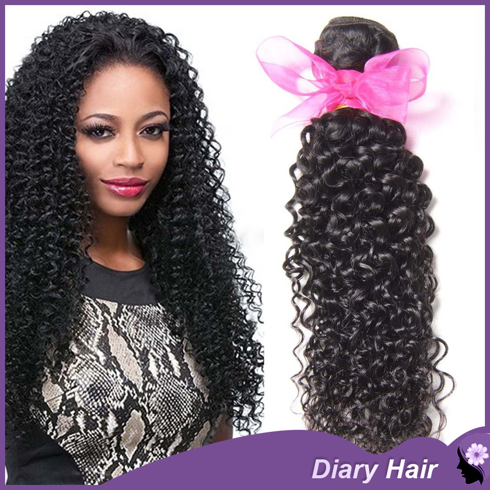 Malysian afro kinky curly virgin hair grade 6A cheap 100%