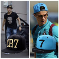 2 Colors 2015 Cristiano Ronaldo CR7 Black Blue Baseball Caps hip hop Sports Snapback Football hat