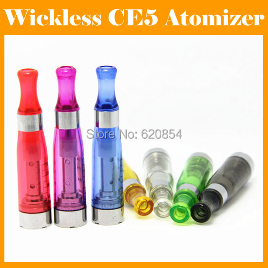 Crystal Tips eGo CE5 Atomizer Wickless Clearomizer 1.6ml Candy Color Mouth 7 Colors E Cigarette - Oplus store