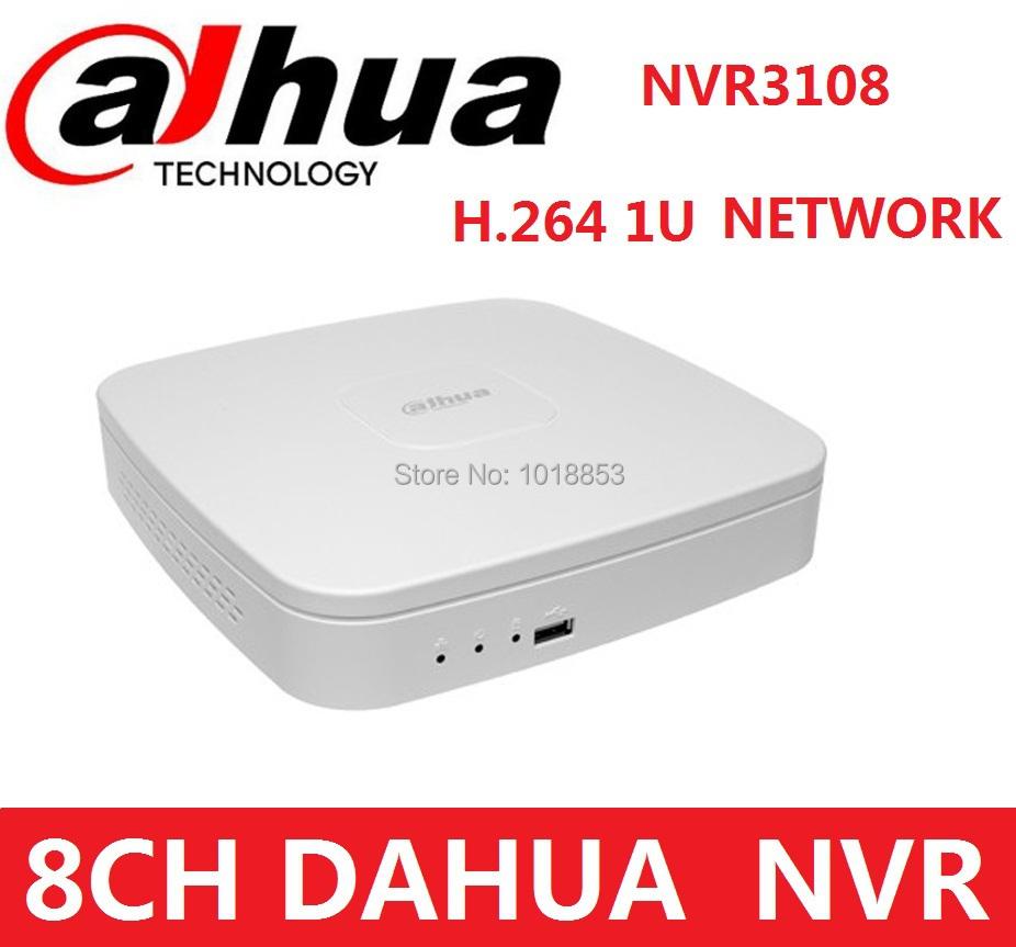DAHUA 8 Channel NVR Smart Mini 1U Network Video Recorder NVR3108 HDMI/VGA output 8ch 1080p H.264 dual codec decoding<br><br>Aliexpress
