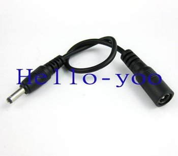 10pcs/lot 3.5mm female DC power cable to male 5.5mm 21.5cm long Free shipping