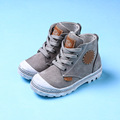 New Autumn Winter Children Genuine Leather Shoes Boys Girls Gray Martin Boots Fashion Ankle Boots