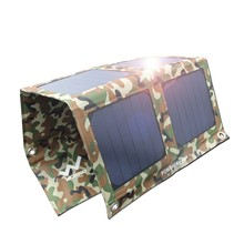 Solar Charger Foldable 21 Watts PowerGreen Solar Power Battery Backup Power Bank SUNPOWER Panel for Cell Phone