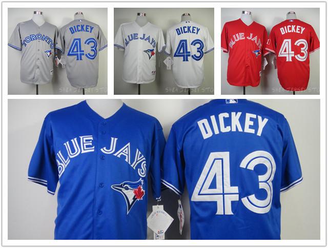 Toronto BlueJays R.A.Dickey Jersey,Toronto Blue Jays 43 R.A.Dickey Baseball Jersey 100% Stitched Free shipping