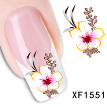 New Water Transfer Flower Decal Women Nail Stickers Nail Art Acrylic Manicure Tips Decoration Sell Hotting(China (Mainland))
