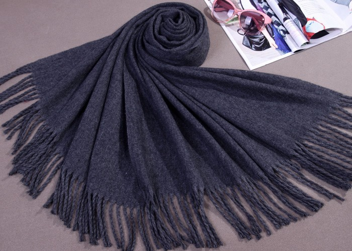 Free Shipping Dark Gray Winter Womens Cashmere Shawl Scarf Thick Warm Wrap WS-205Одежда и ак�е��уары<br><br><br>Aliexpress
