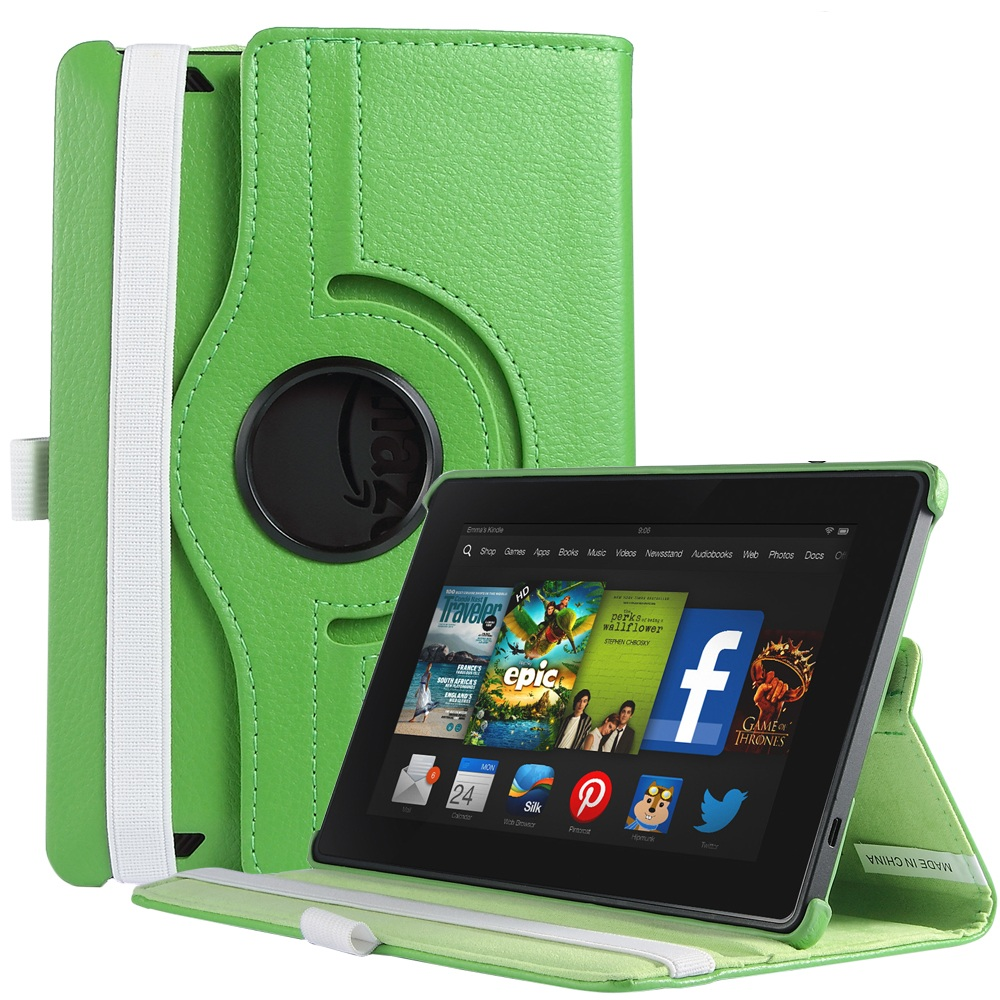 """ULAK Magnetic 360 Rotating Smart Case Cover For New kindle fire HD 7"""" 2013 Tablet with Auto Sleep/ Wake Feature(China (Mainland))"""