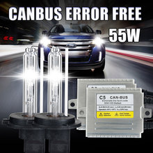 Buy C5 55W Canbus Error free xenon H3 Canbus HID kit H1 H4 H7 H11 H8 H27 9005 HB3 9006 HB4 3000k 4300k 6000K 8000K canbus xenon H7 for $50.22 in AliExpress store