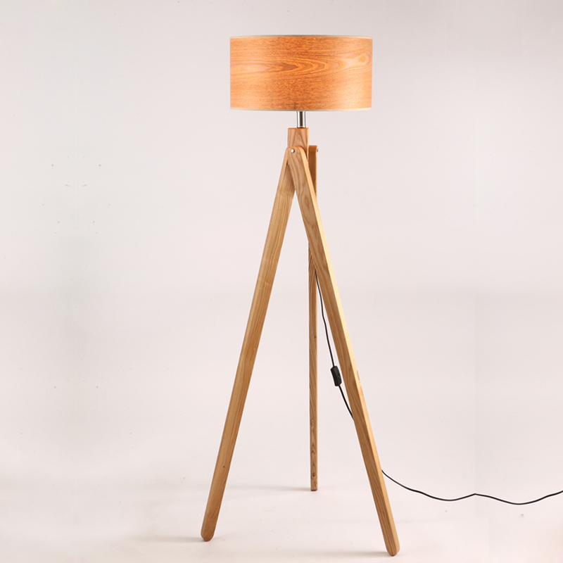 rdic fashion study personality living room lamp floor lamp designer woodiness floor lamp to warm the bedroom wooden lamp(China (Mainland))