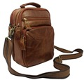 Multi functional Fashion Genuine Leather Messenger Bag Men Leather crossbody Bag small Shoulder bag for Man
