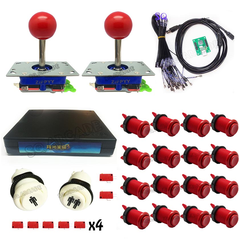 Free shipping DIY Arcade Parts Bundles Kit 520 in 1 Joystick,button,Microswitch,2 Player USB To Jamma Control Board(China (Mainland))