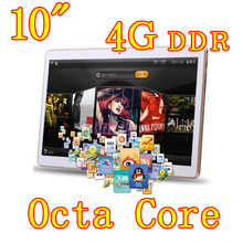 10 inch 8 core Octa Cores 1280X800 IPS DDR 4GB ram 32GB 8.0MP 3G Dual sim card Wcdma+GSM Tablet PC Tablets PCS Android4.4 7 9