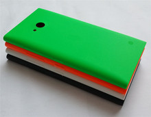 For Lumia 730 Case Slim Cell Phone Case For Nokia Lumia 730 735 Housing Back Cover Case Battery Cover Door Caso with side button(China (Mainland))