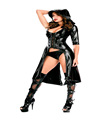 HighQuality Sex Hot Sexy Imitation Leather Strap Erotic Women Black Patent Leather Erotic Lingerie Ultimate Temptation