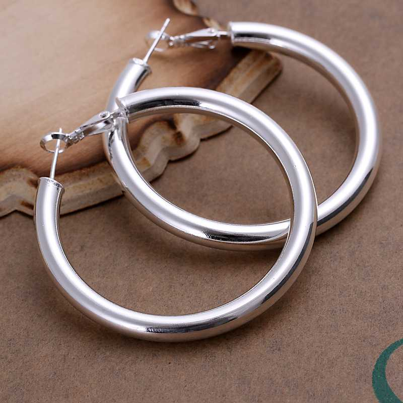 Гаджет  Free shipping 925 sterling silver jewelry earring fine graceful 5mm hollow hoop jewelry earring wholesale and retail SMTE149 None Ювелирные изделия и часы