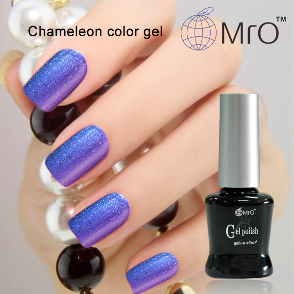 2016 2 pieces/lot Mro unhas de gel nail polish is a chameleon nail glue esmaltes permanentes de uv color changing nail polish