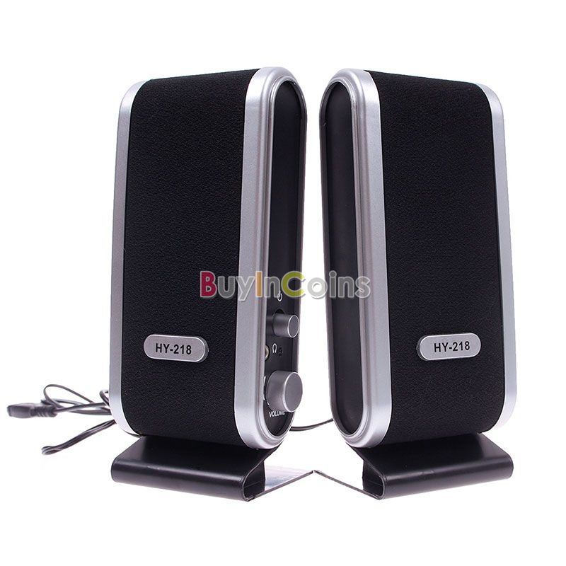 Black USB Portable Mini Speaker for Laptop PC Computer US AS #56971(China (Mainland))