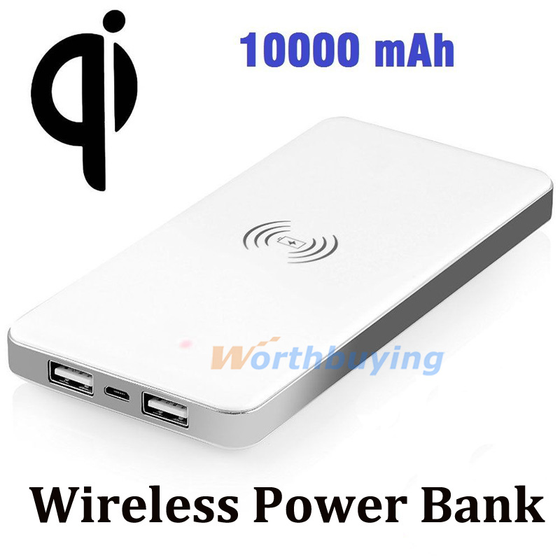 Qi Wireless Charger Portable Wireless Charging Pad USB Power Bank 10000mAh For Samsung Galaxy S6 S6 Edge+ Note 5(China (Mainland))