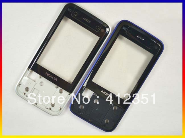 Black/White/Blue/Silvery Original Housing Front Plate Frame Bezel Cover Case + Outer Glass Screen for Nokia N81 Free Shipping(China (Mainland))
