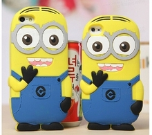 3D cute cartoon Soft Rubber silicon Despicable Yellow Minion Case Cover iphone 4s 5s 6 6s 4.7'' Plus 5.5'' - Fashion Electronic City store