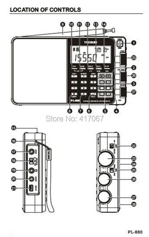 wholesale new arrival  tecsun pl880 pll multi conversion