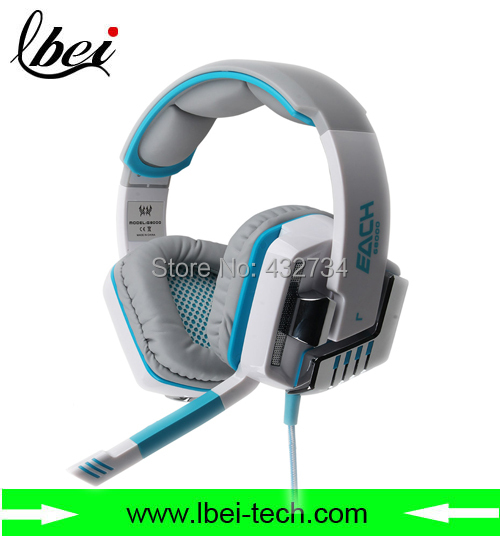 EACH G8000 fashion design outlook 3.5mm stereo headband game headset headphone LED light&Noise cancelling&Microphone - Lbei-Tech Mall store