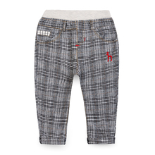 Free shipping spring autumn 2015  male child cotton casual trousers, baby boys plaid pants(China (Mainland))