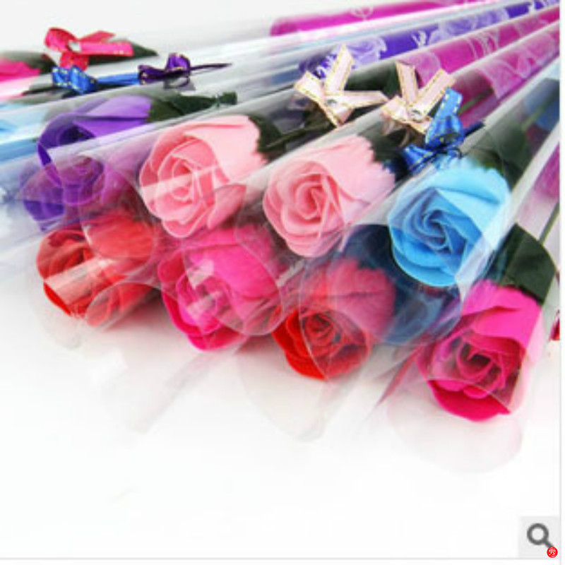 3pcs/lot New Hot Selling Wedding Decoration Simulation Rose Soap Flower Wedding Favors And Gifts Free Shipping 6Z-HD010(China (Mainland))