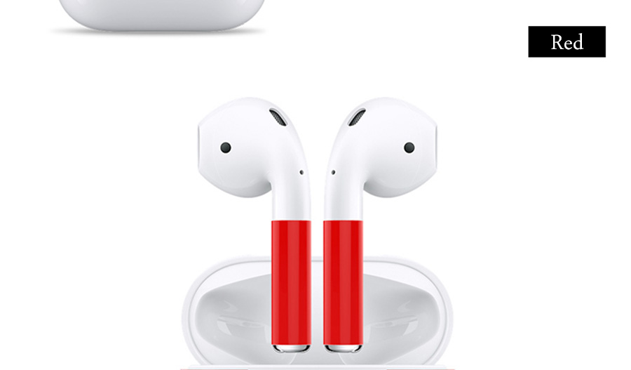 1 Set New Arrival Protector Skin Sticker for Apple Airpods Charging Box+Anti-lost Wrap Film for Air Pods Wireless Earphone