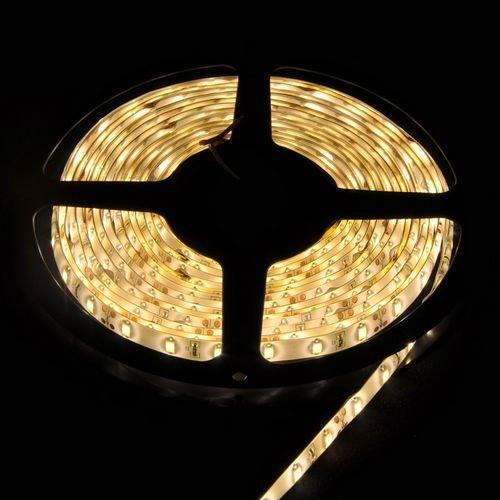 Гаджет  5M warm white 300leds 60leds/M 15W/M SMD 5630 flexible light strip lamp 12V glue waterproof for club car boat lighting  None Свет и освещение