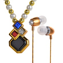Necklace Earphone Bluetooth BE509 Clothes ornament Stereo Handfree Bluetooth Headset For Female Headphones V4.1 MIC Music Play(China (Mainland))