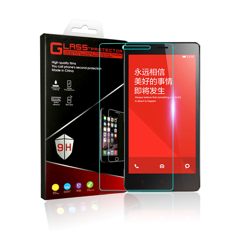 Slim phone film For Xiaomi redmi note 2 glass tempered protector film Anti-Explosion anti-Shatter screen for xiaomi redmi note2(China (Mainland))