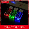 YUFANYF 2017 pendrive 3 colors Red blue green LED Audi car LOGO USB falsh drive 4GB