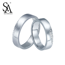SILVERAGE Real 925 Sterling Silver Couples Rings Fine Jewelry Women Kiss Lip 2016 Summer New Design(China (Mainland))