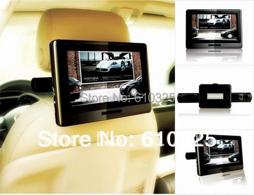 """9"""" Portable DVD Player Headrest Car DVD Player Retail/PC Free Shipping(China (Mainland))"""