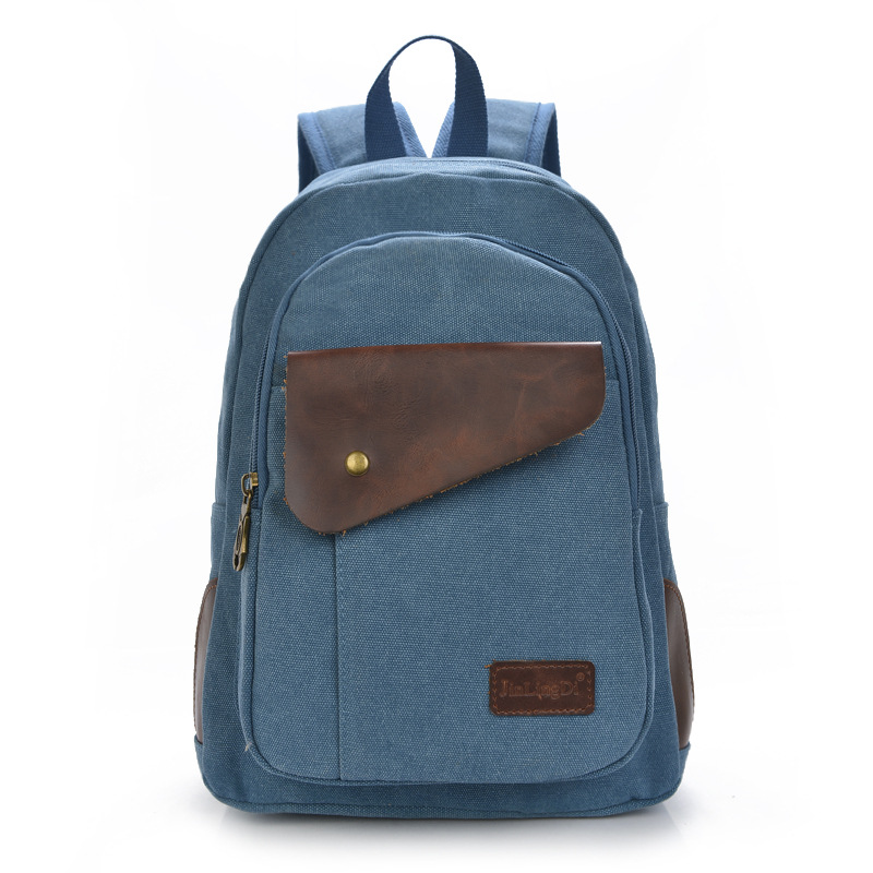 Mochila Feminina Kpop Manufacturers Selling 2016 New Men's Backpack And High-grade Canvas Boy Crazy Horse Leather Bag Wholesale(China (Mainland))