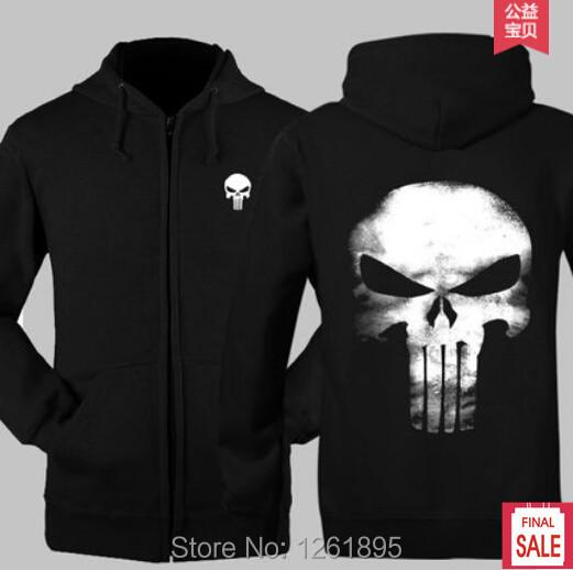 American TV Movie Men Women's Clothing Punisher Sweatshirts Hoodies Cosplay Costume Coat - ACGMN Store store