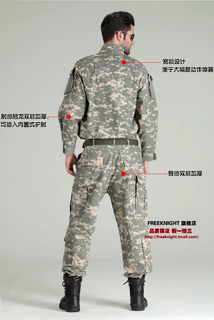 us army military uniform men Outdoor camping ACU camouflage charge training suits jacket pants - Hui Peng's store