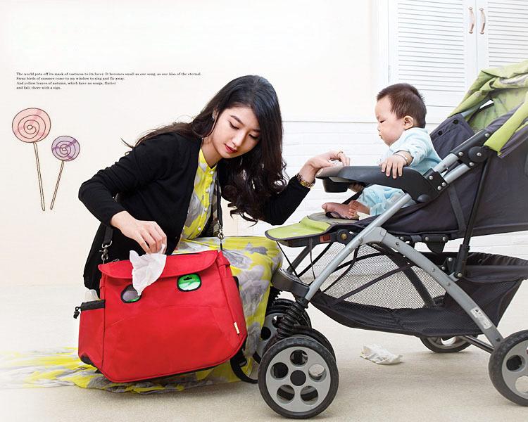 Mother Blue Shoulder Bags Handbags Baby Carriage Bag /Babies Waterproof Multifunctional Nappy Bag(China (Mainland))